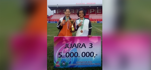 SMKN 3 Kediri JUARA Sepakbola Putri – Pertiwi CUP 2018 Blitar